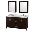 "Wyndham Collection Sheffield 60"" Double Bathroom Vanity Set"