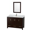 "Wyndham Collection Sheffield 48"" Bathroom Vanity Set with Single Sink"