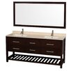 "Wyndham Collection Natalie 72"" Double Bathroom Vanity Set"