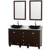 "Wyndham Collection Acclaim 60"" Bathroom Vanity Set with Double Sink"