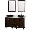 "Wyndham Collection Acclaim 60"" Double Bathroom Vanity Set"