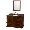 "Wyndham Collection Rochester 48"" Single Bathroom Vanity Set with Mirror"