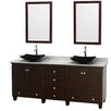 """Wyndham Collection Acclaim 80"""" Double Bathroom Vanity Set with Mirror"""