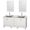 """Wyndham Collection Acclaim 72"""" Bathroom Vanity Set with Double Sink"""