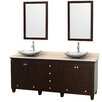 "Wyndham Collection Acclaim 80"" Double Bathroom Vanity Set"