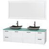 "Wyndham Collection Amare 72"" Bathroom Vanity Set with Double Sink"