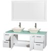 "Wyndham Collection Amare 60"" Double Bathroom Vanity Set with Mirror"