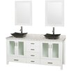"""Wyndham Collection Lucy Arista 72"""" Double Bathroom Vanity Set with Mirror"""