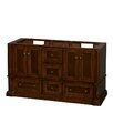 "Wyndham Collection Rochester 61"" Double Bathroom Vanity Base"