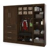 "Bestar Pur 18.25"" Deep Mudroom Storage Unit Kit"