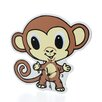 <strong>Trend Lab</strong> Chibi Zoo Monkey Wall Clock