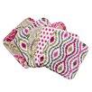 Trend Lab Waverly® Jazzberry 5 Piece Bouquet Wash Cloth Set