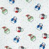 Trend Lab Snowman Print Crib Sheet