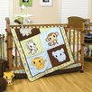 Chibi Zoo 4 Piece Crib Bedding Set