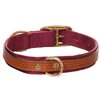<strong>Woofwerks</strong> Cooper Dog Collar with Antiqued Brown Leather Overlay