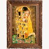 <strong>Tori Home</strong> The Kiss (Full View) by Klimt Framed Hand Painted Oil on Canvas