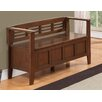 Simpli Home Adams Wood Storage Entryway Bench