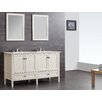 "Simpli Home Chelsea 61"" Double Bathroom Vanity Set with Mirror"
