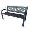 LB International Steel Kiddie Garden Bench