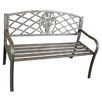 <strong>LB International</strong> Rose Lattice Bench in Bronze