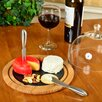 Picnic At Ascot Provence Glass Dome and Slate Cheese Tray Set