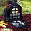 Picnic At Ascot Bold Picnic Backpack with Blanket and Two Place Settings