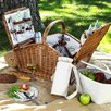 <strong>Picnic At Ascot</strong> Huntsman Basket for  Four with Coffee Set and Blanket in Gazebo