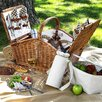 <strong>Picnic At Ascot</strong> Huntsman Basket for Four with Coffee Set and Blanket in London