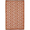 Fab Rugs World Marina Cherry Tomato/Bright White Indoor/Outdoor Area Rug