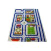 Luca and Company IVI Carpet - 3D Traffic Blue Play Rug