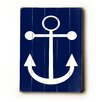 Artehouse LLC Navy Anchor Wood Sign