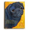 Artehouse LLC Black Pug Wood Sign