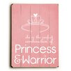 Artehouse LLC Princess & Warrior Wood Sign