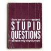 Artehouse LLC Stupid Questions Wood Sign