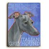 <strong>Artehouse LLC</strong> Italian Greyhound Wood Sign