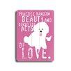 Artehouse LLC Practice Random Beauty Planked Textual Art Plaque