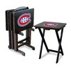 Imperial NHL TV Trays with Stand (Set of 4)