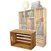 Quickway Imports Stackable Antique Style Wooden Crates Decorative Shelving