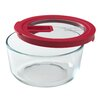 <strong>No Leak Lids 4-Cup Round Storage Dish</strong> by Pyrex