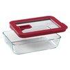 Pyrex No Leak Lids 3-Cup Rectangular Storage Dish