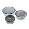 No Leak Lids Six Piece Value Pack Storage Vessels Set with Plastic Lids