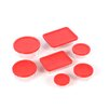 14 Piece Bakeware/Cookware Set with Red Plastic Covers