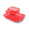 <strong>Easy Grab 6 Piece Bakeware Set with Plastic Cover</strong> by Pyrex