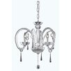 <strong>Scroll 3 Light Mini Crystal Chandelier</strong> by Elegant Lighting