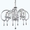 Elegant Lighting Scroll 6 Light Crystal Chandelier