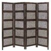 "Loft 72.83"" Wood Screen 4 Panel Room Divider"