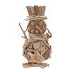 UMA Enterprises Handcrafted Wood Snowman Figurine
