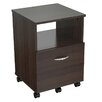 Inval Uffici Commercial 1-Drawer Mobile File Cabinet