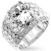Kate Bissett B01318T-V02Oval Clear cubic Zirconia Wedding Ring