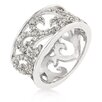 Kate Bissett Clear Cubic Zirconia Filigree Ring